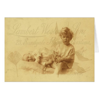Looking After Baby Greeting Card Greeting Card