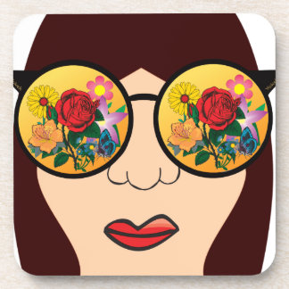 Looking at flowers coaster