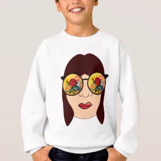 Looking at flowers sweatshirt