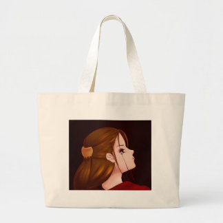 Looking Back - Red Large Tote Bag