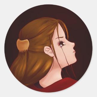 Looking Back - Red Round Sticker