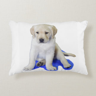 Looking Down Labrador Puppy Decorative Pillow