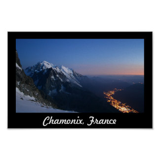 Looking Down Over Chamonix, France Poster