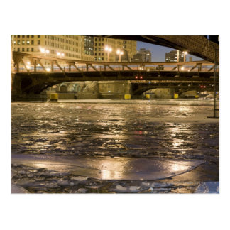 Looking down the frozen Chicago River in Post Cards