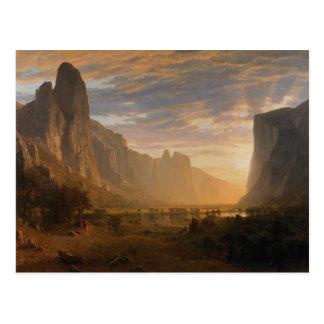 Looking Down Yosemite Valley Postcard