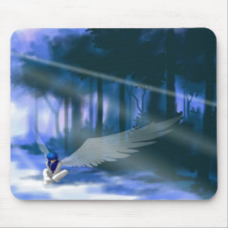 """Looking for Light"" Angel Mousepad"