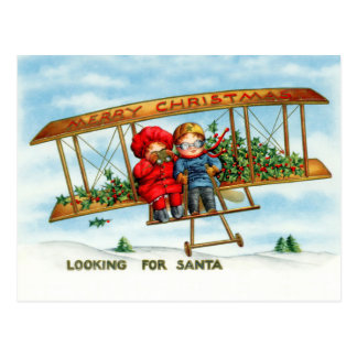 Looking For Santa Postcard