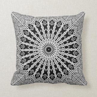 Looking Glass Mandala Throw Pillow