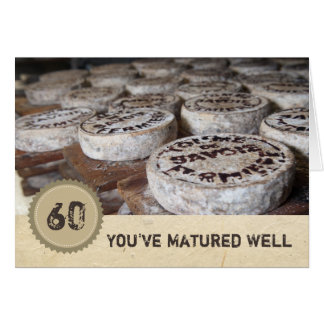 Looking Good at 60 60th Birthday Old Cheese Card