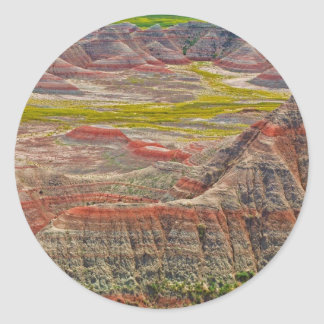 """Looking into the badlands"" collection Classic Round Sticker"