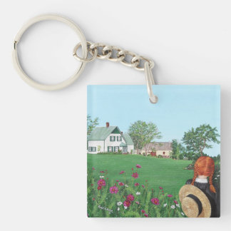 Looking on with Love, Anne of Green Gables, PEI Double-Sided Square Acrylic Keychain