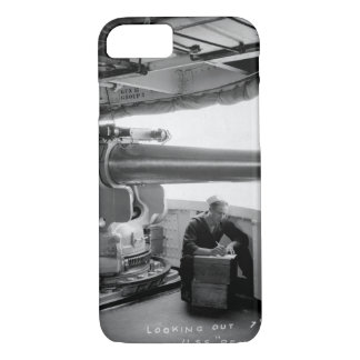 "Looking out 7"" gun port, U.S.S_War Image iPhone 7 Case"