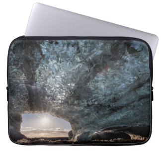 Looking out an ice cave, Iceland Laptop Sleeve