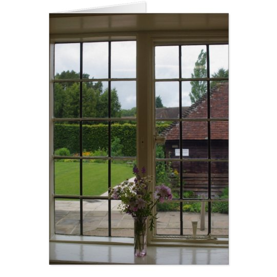 Looking out Jane Austen's Window at Chawton Cottag Card