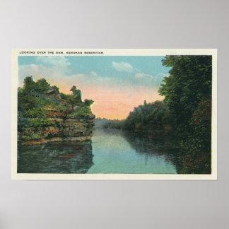 Looking over the Ashokan Reservoir Dam Poster
