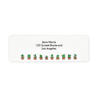 Looking Sharp Cacti Return Address Labels