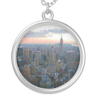 Looking South from Top of the Rock New York City Silver Plated Necklace