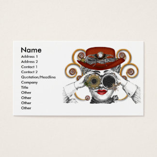 looking steampunked steampunk dude business card