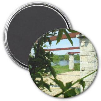 Looking Through 3 Inch Round Magnet