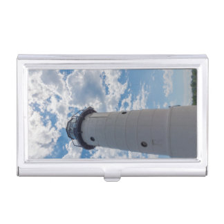 Looking Up Manistee Lighthouse Business Card Holder