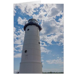 Looking Up Manistee Lighthouse Card