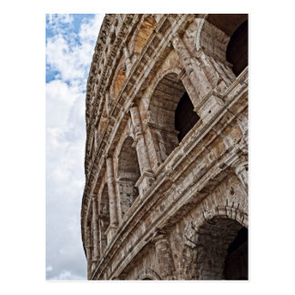 Looking Up On the Roman Colosseo Postcard