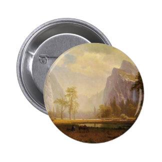 Looking Up the Yosemite Valley - Albert Bierstadt 2 Inch Round Button