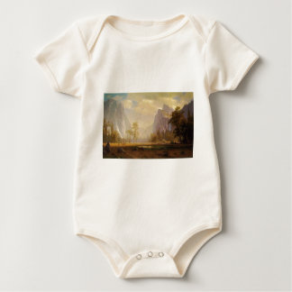 Looking Up the Yosemite Valley - Albert Bierstadt Baby Bodysuit