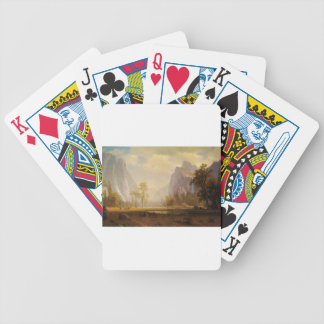 Looking Up the Yosemite Valley - Albert Bierstadt Bicycle Playing Cards