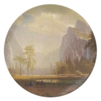 Looking Up the Yosemite Valley - Albert Bierstadt Dinner Plates