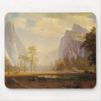 Looking Up the Yosemite Valley - Albert Bierstadt Mouse Pad