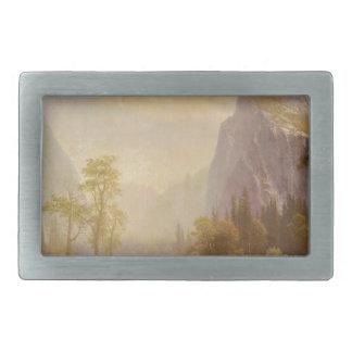 Looking Up the Yosemite Valley - Albert Bierstadt Rectangular Belt Buckles