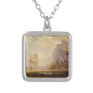 Looking Up the Yosemite Valley - Albert Bierstadt Silver Plated Necklace