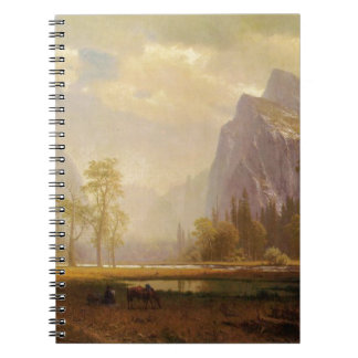 Looking Up the Yosemite Valley - Albert Bierstadt Spiral Note Book