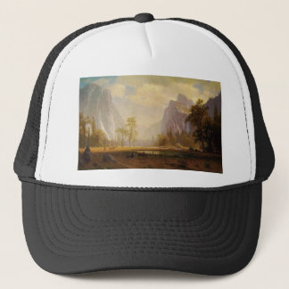 Looking Up the Yosemite Valley - Albert Bierstadt Trucker Hat