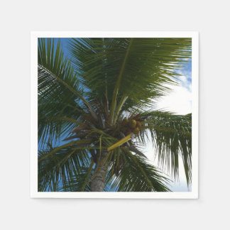 Looking Up to Coconut Palm Tree Tropical Nature Paper Napkins