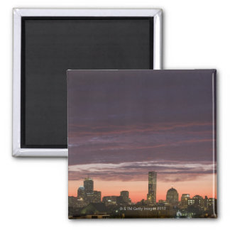 Looking west from South Boston at sunset Magnets