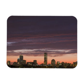 Looking west from South Boston at sunset Vinyl Magnet