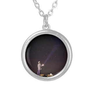 Looking will be home silver plated necklace