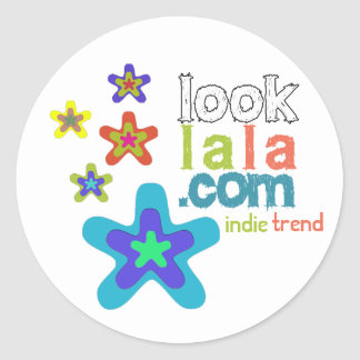 looklala is indie trend classic round sticker