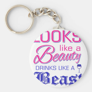 Looks like a beauty drinks like a beast keychain