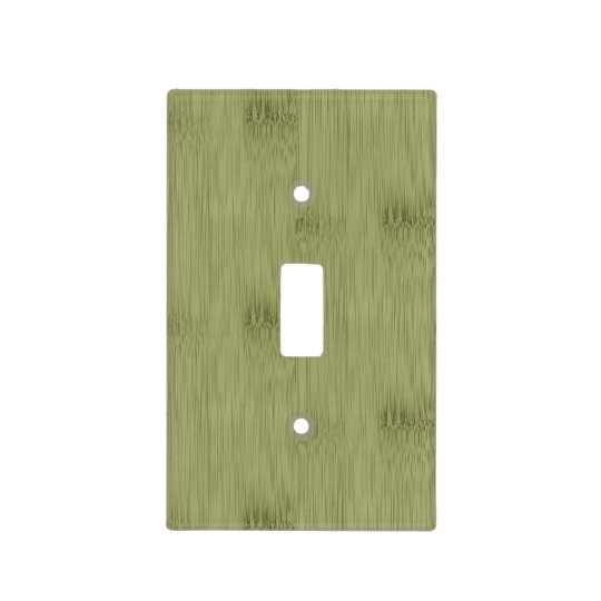 Looks Like Bamboo in Olive Moss Green Wood Grain Light Switch Cover