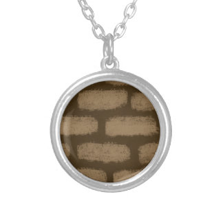 Looks like bricks silver plated necklace