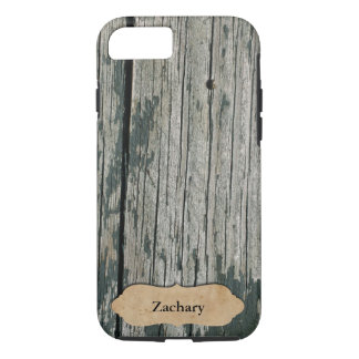 Looks Like Old Barn Wood Personalized iPhone 7 Case