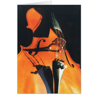 Looming Cello greeting card