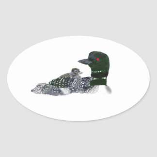 loon baby on board oval sticker