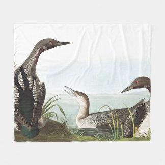 Loon Birds Wildlife Animals Fleece Blanket