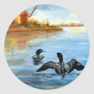 Loon Dance II Sticker