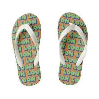 Loon Doric Scottish Dialect Flipflops, Kid's Flip Flops