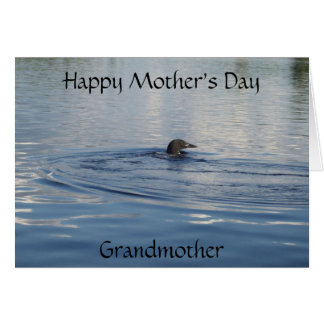 Loon Mother's Day Card for a Grandmother